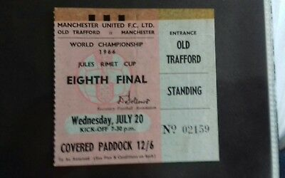 World Cup 1966 Old Trafford ticket 20th july
