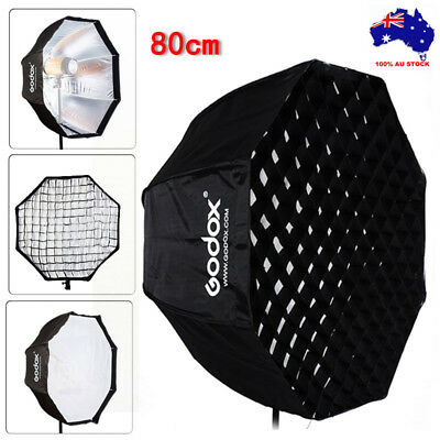 Godox Photography Umbrella Octagon Softbox with Grid For SpeedLight Flash 80cm