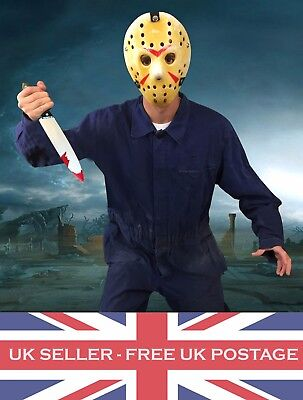 Jason Halloween Costume Outfit Fancy Dress Horror Hockey Mask Knife Authentic