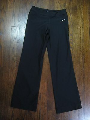 Women's NIKE DRI-FIT ATHLETIC PANTS Black Size S Small Running Yoga Gym Work Out