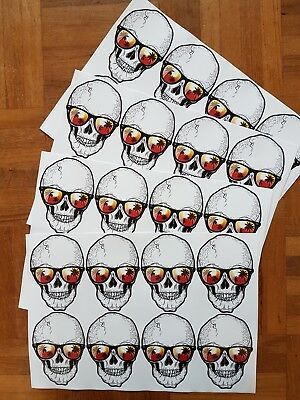 Skull sticker decal graphic vinyal weather proof high gloss car retro old school