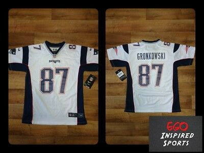 Youth Nike NFL GRONKOWSKI 87 New England Patriots Jersey BNWT (Medium)