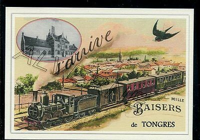 TONGRES  -....  TRAIN  ...  souvenir creation moderne serie numerotee