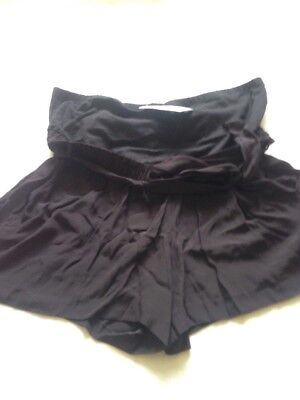 BNWT Ladies M&S Size 20, Black Over Bump Maternity Shorts
