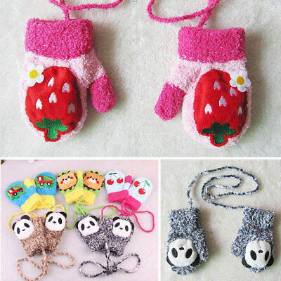 NEW Cartoon Winter Warm Soft Plush Gloves Mittens For Kids Baby Child Toddler