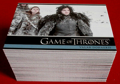 GAME OF THRONES - Season 3 - Complete Base Set (98 cards) - Rittenhouse 2014
