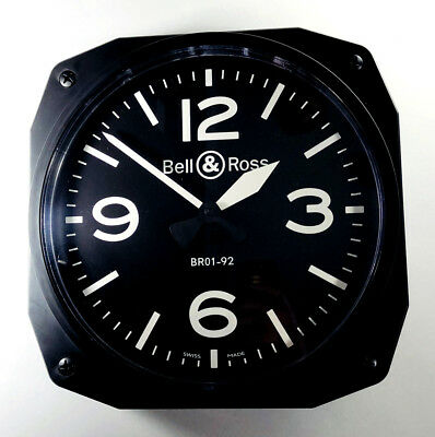 Bell & Ross Br01-92 Aviator Commercial Advertising Display Wall Clock