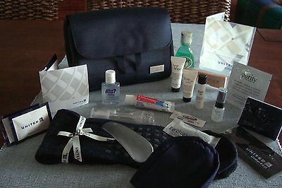 UNITED AIRLINES UA First Class Amenity PHILOSOPHY Trousse Neceser Kulturbeutel