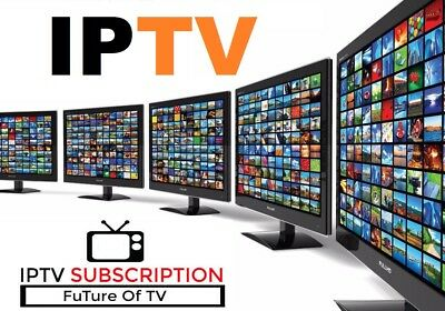 1 MONTH IPTV Subscription 5000  TV Channels   VOD