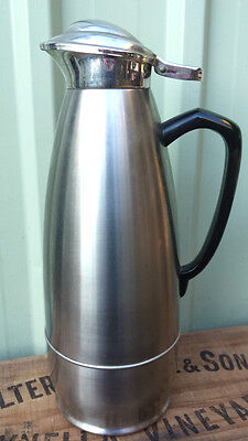 Vintage JUG THERMOS FLASK Stainless Steel 18.8 Carafe Drink Server Pitcher