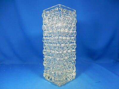 "Schöne originale 70´s "" bubble "" design glass Glas vase 26 cm"