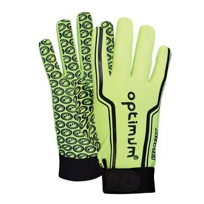 Optimum Sports Velocity Thermal Cold Autumn Rugby Winter Gloves  - Fluo Green