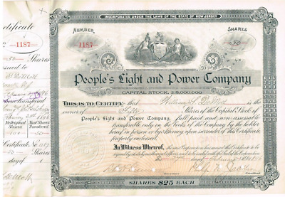 Peoples Light and Power Company 1896