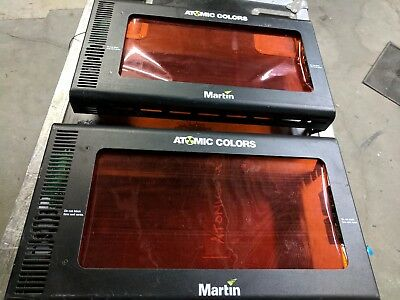 Lot of 2x MARTIN ATOMIC COLORS SCROLLER FOR ATOMIC 3000 STROBE