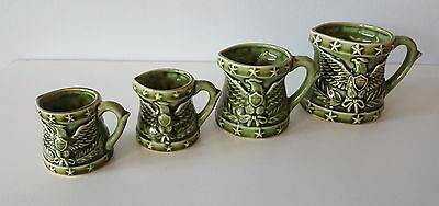 American Patriotic Pattern Of Eagles And Stars Measuring Cups Set