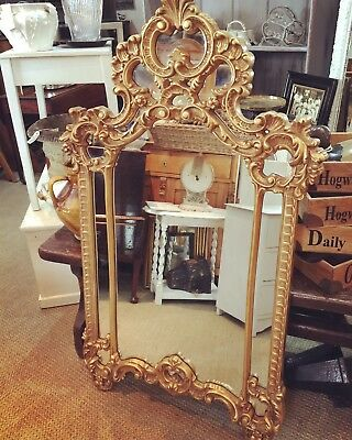 Vintage Rococo Style French Style Large Mirror