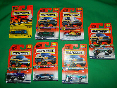 Lot of 7 vintage Matchbox cars trucks from 1990s Ford F-150 unopened toys