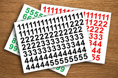 "1"", 2"", 3"", 4"", 5"" SELF ADHESIVE STICKY NUMBERS STICKERS PEEL OFF c"