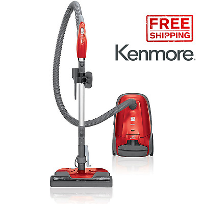Kenmore 81414 400 Series Bagged Canister Vacuum Cleaner w/ HEPA Filter - Red NEW