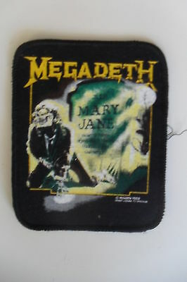 Megadeth Mary Jane 1988 patch Sew On music