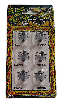 Fake Flies Insects Funny Prank Trick Evil Jokes Stocking Fillers Flies on Wall