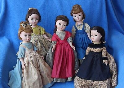 Set of 5 - Vintage Madame Alexander Little Women Dolls, Jo Meg Beth Amy Marme
