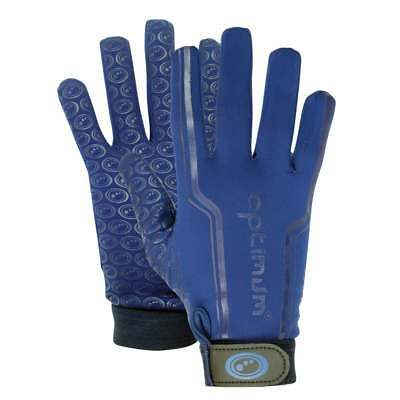 Optimum Sports Velocity Thermal Rugby Full Finger Grip Anti Slip Gloves - Navy