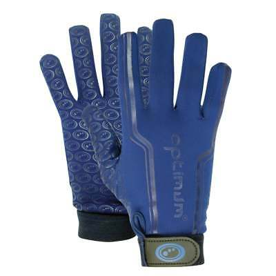 Optimum Sports Velocity Thermal Rugby Gloves Full Finger  - Navy