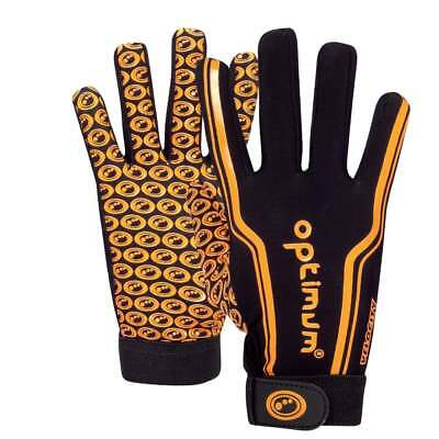 Optimum Sports Velocity Thermal Full Finger Grip Rugby Winter Gloves - Orange