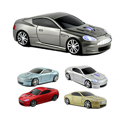 3D 2.4Ghz Wireless Aston Martin Car Mouse Optical USB Game Laptop PC Mice LED US