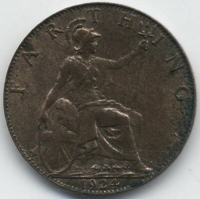 1924 George V Farthing***High Grade***Collectors***