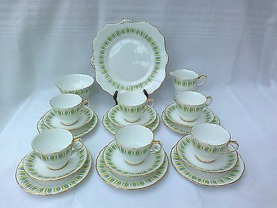 "Vintage Royal Stafford ""reflections"" Bone China Tea Set  21 Pieces"