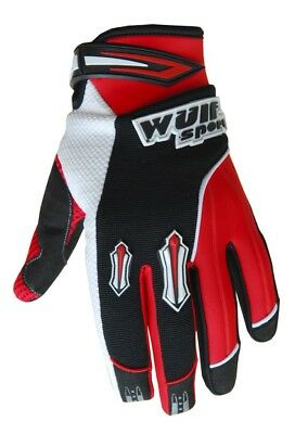 Wulf Sport Enduro Motocross Quad Handschuhe Kids Kinder Stratos Gloves rot