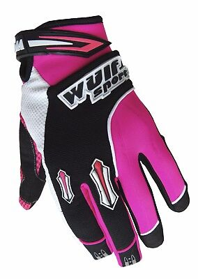 Wulf Sport Enduro Motocross Quad Handschuhe Kids Kinder Stratos Gloves pink
