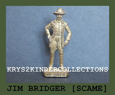 Jouet kinder Cowboys II Jim Bridger messing [SCAME] France 1993
