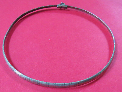 "Silver Colored 16"" Choker Necklace"
