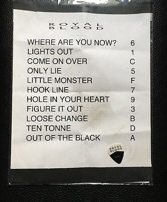 Royal Blood - 2017 Tour Setlist & Stage-Used Real Tour Guitar Pick