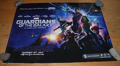 Guardians of The Galaxy original UK cinema double-sided quad poster Marvel
