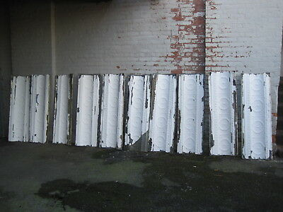 10 VICTORIAN  ANTIQUE TIN CEILING MOLDING TILES CURVED CORNICE  41 linear feet