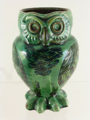 Antique William Baron Barnstaple Art Pottery Owl Jug / Vase C.1893