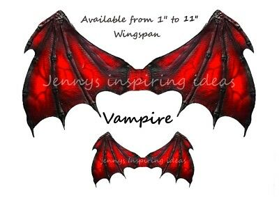 Ooak Vampire wings  Gothic A4 transparency sheet