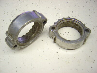 2 Used Exhaust Pipe Holders ( Flanges ) for Kawasaki KZ400, 1974 - 1978.