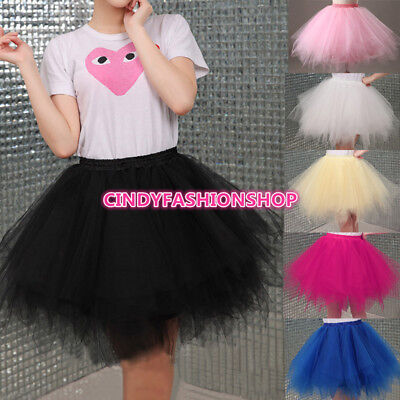USA Adult /Girl  Women 1950 S Vintage TUTU Petticoat Ballet Bobble Dance Skirt