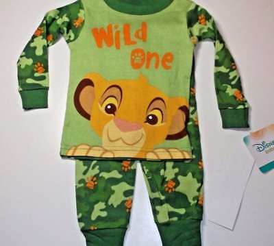 Disney The Lion King Simba Baby Pajamas Size 9 12 18 24 Months New!