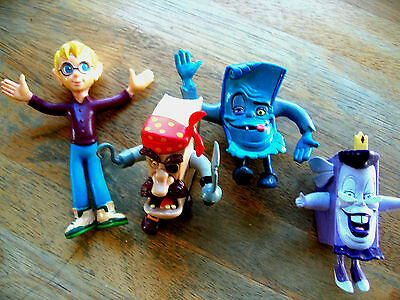 1994 Disney's The Pagemaster Set of 4 Bend-Ems Action Figures Richard Horror etc