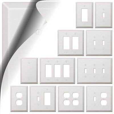 Oversized White Switch Plate Outlet Cover Rocker Toggle Duplex Decora Wallplate