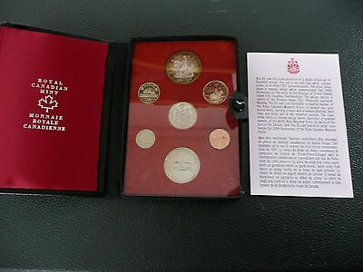 1973 Canada Royal Canadian Mint Double Dollar 7-Coin Set w/ Silver Dollar