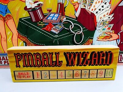 Handmade Wooden Retro Sign........Pinball Wizard Solid Timber Plaque