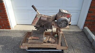 "Local P/U ONLY NJ- Edco 14"" Masonry Wet Saw Model MS14P2- Electric 220/110 Volts"