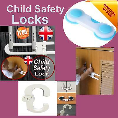 Baby Child Safety Cupboard Door Drawer Locks Little Finger Guard